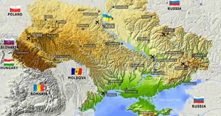 χάρτης ουρκανία