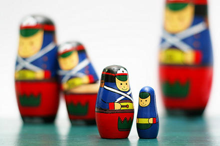 ξύλινες ρώσικες κούκλες