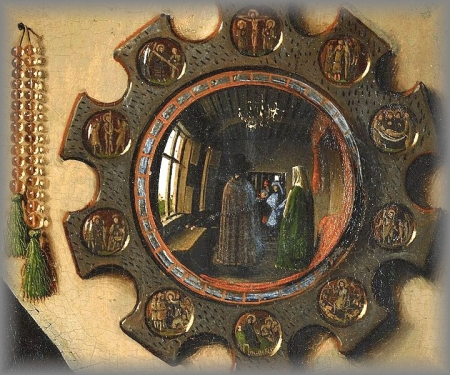 PAINTING-Mirror-rosary Jan van Eyck miniature 1434